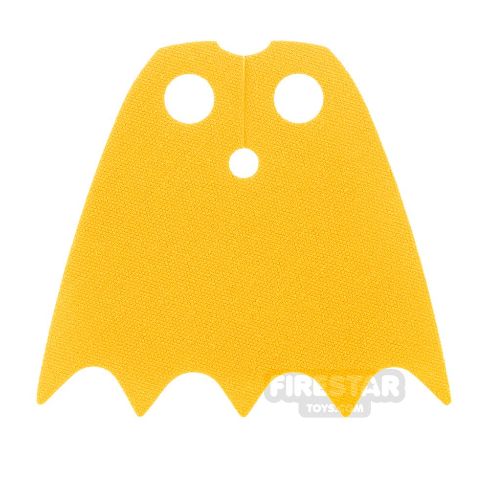 LEGO Cape - Batgirl - Shiny Soft Fabric - Yellow