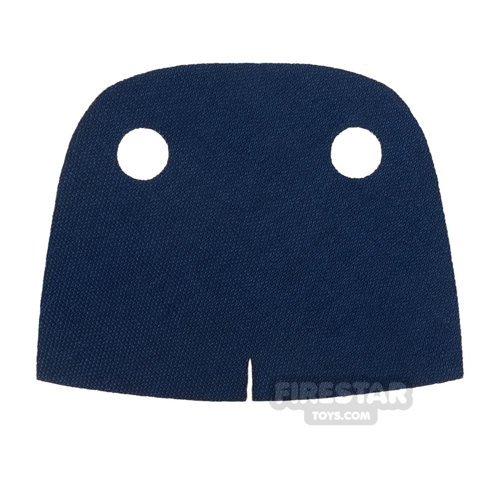 Custom Design Cape - Trenchcoat - Round Collar - Dark Blue