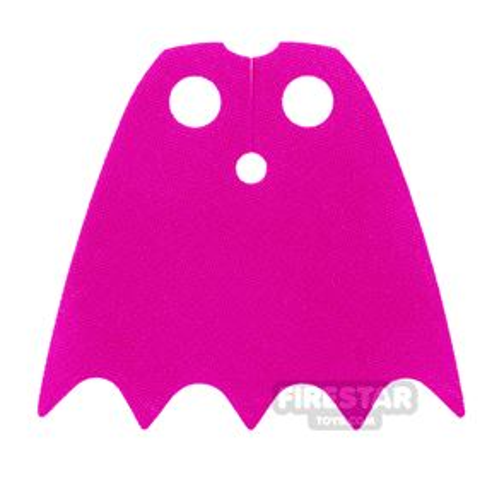 LEGO Cape - Batgirl - Shiny Soft Fabric - Dark Pink