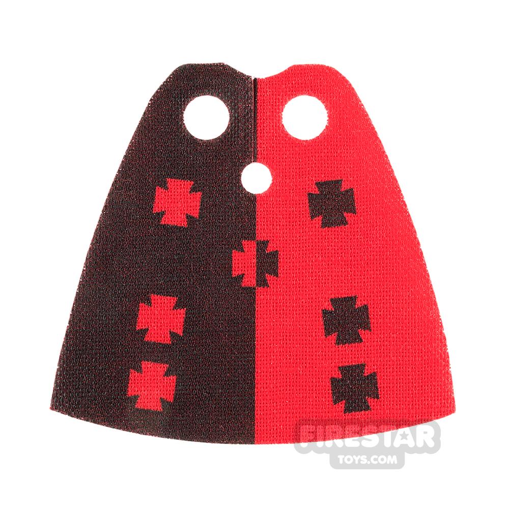 Custom Design Cape Standard Red with Crosses