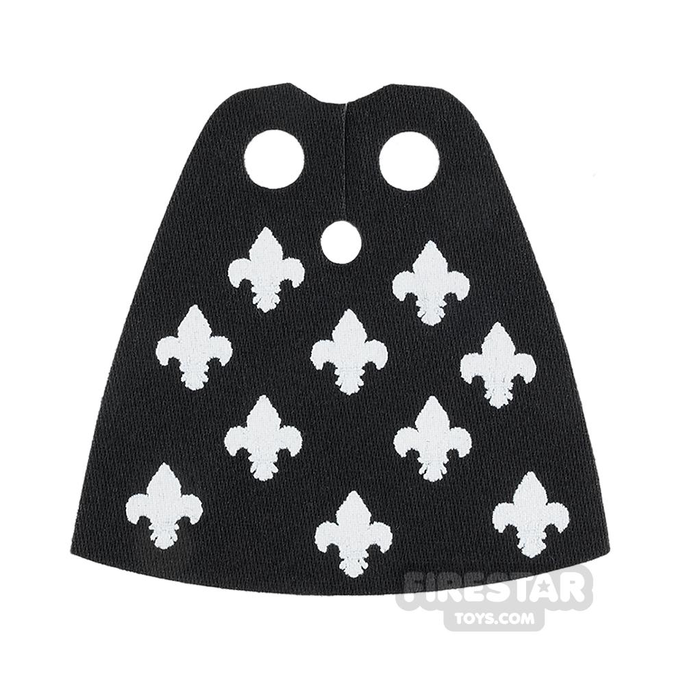 Custom Design Cape - Standard - Black with fleur De Lis