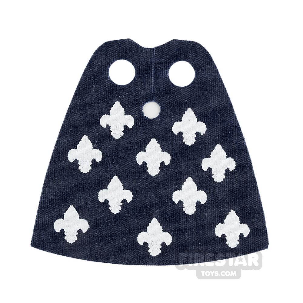 Custom Design Cape - Standard - Dark Blue with fleur De Lis