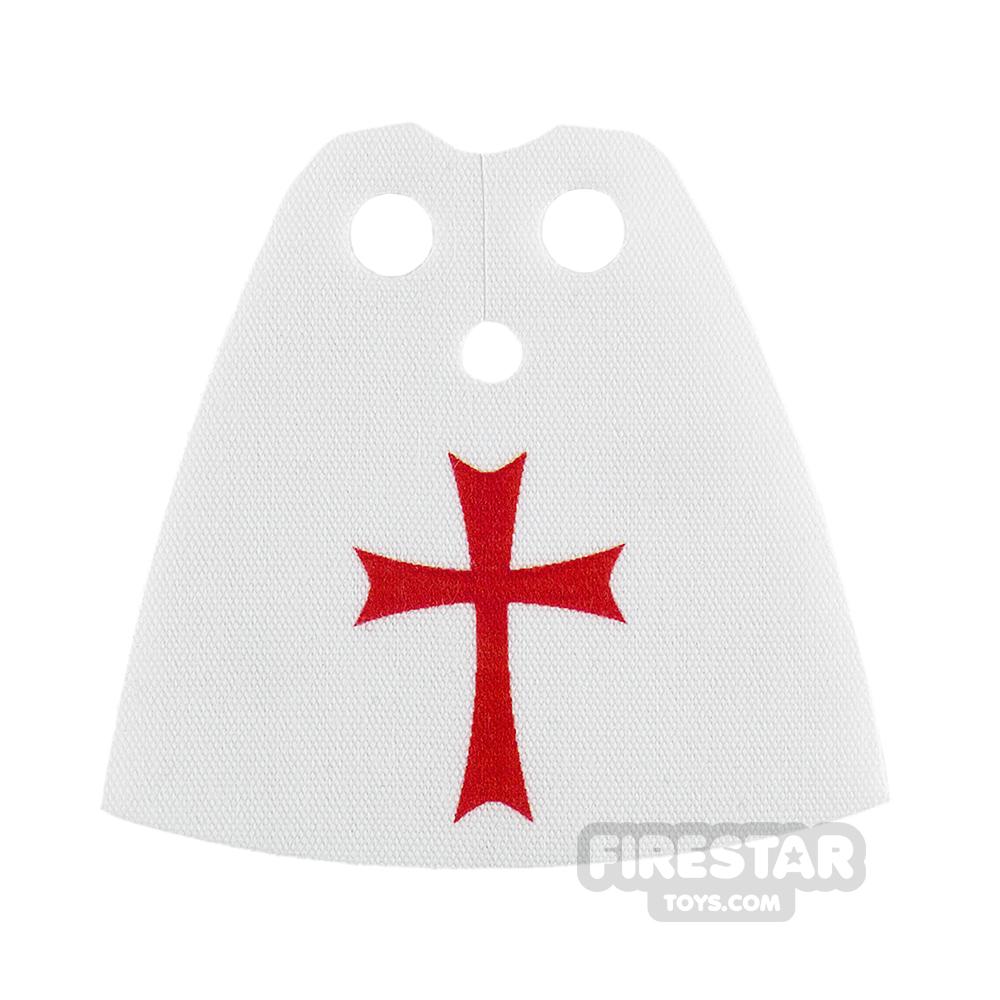 Custom Design Cape - Standard - White with Red Cross