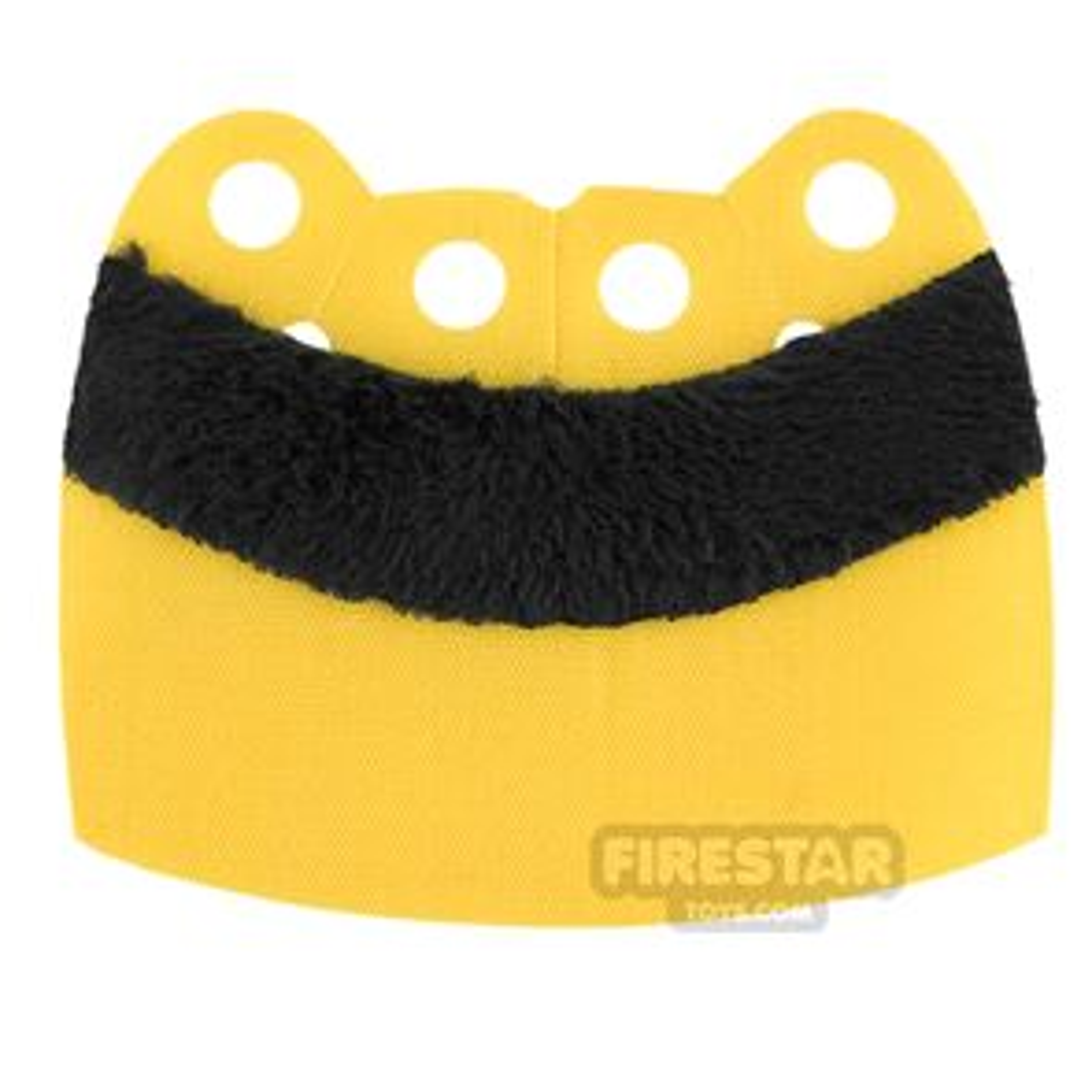 Custom Design Cape - Over Cape - Upper Fur - Yellow - Black Fur