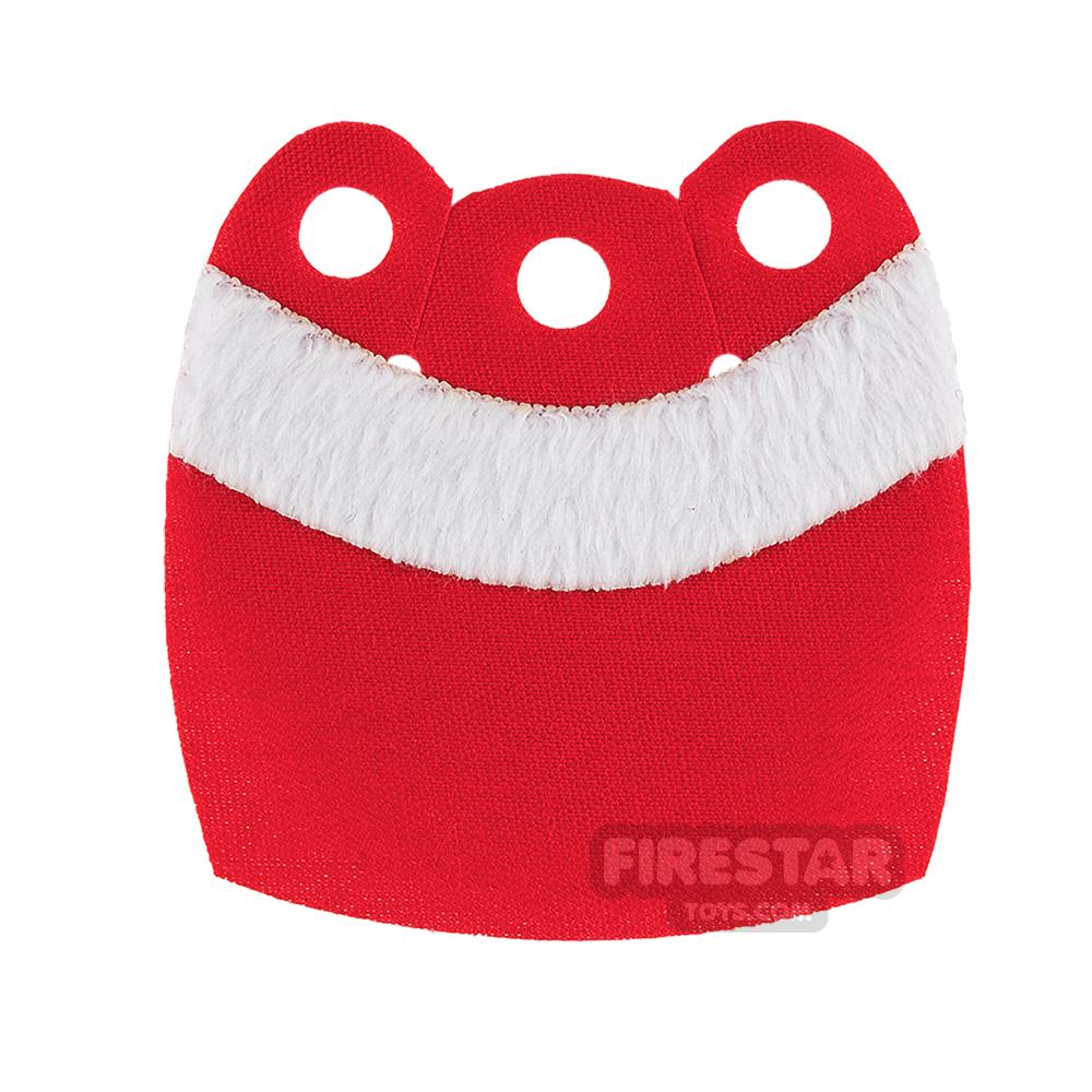 Custom Design Cape - Mid Cape - Upper Fur - Red - White Fur