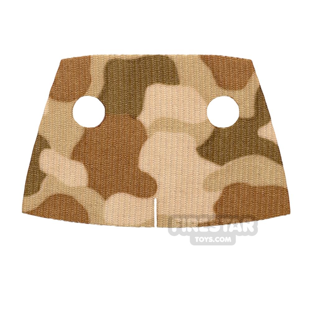 Custom Design Cape - Trenchcoat - Square Collar - Brown Camouflage