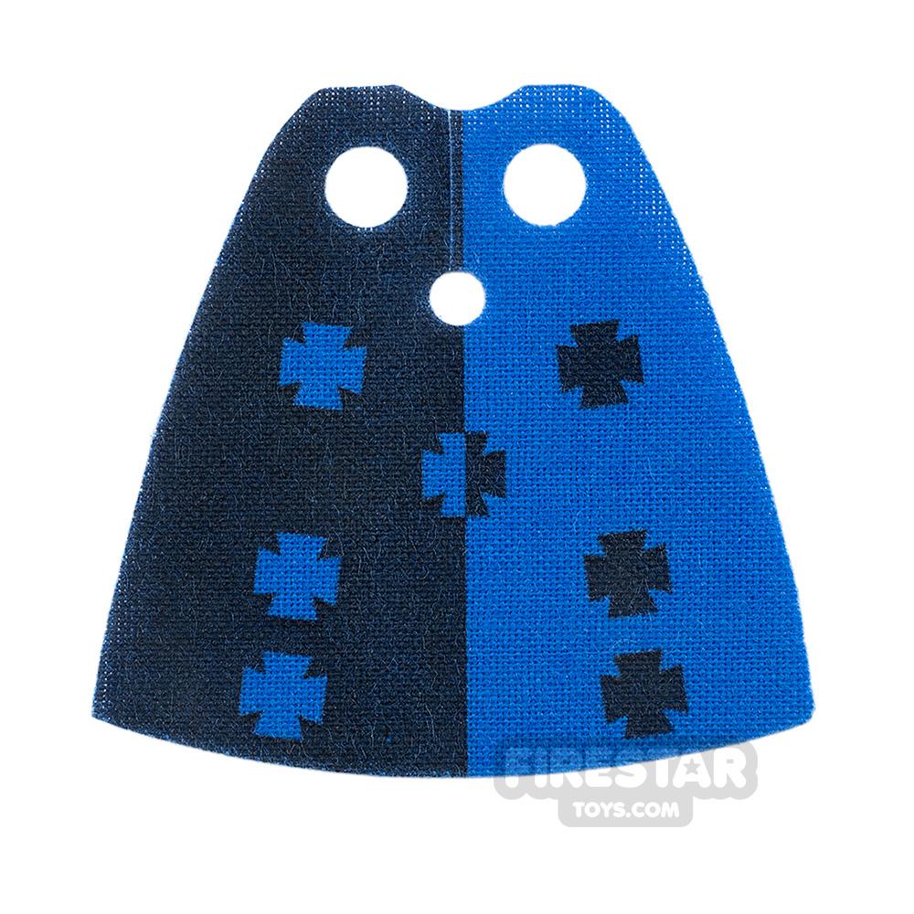 Custom Design Cape Standard Blue with Crosses