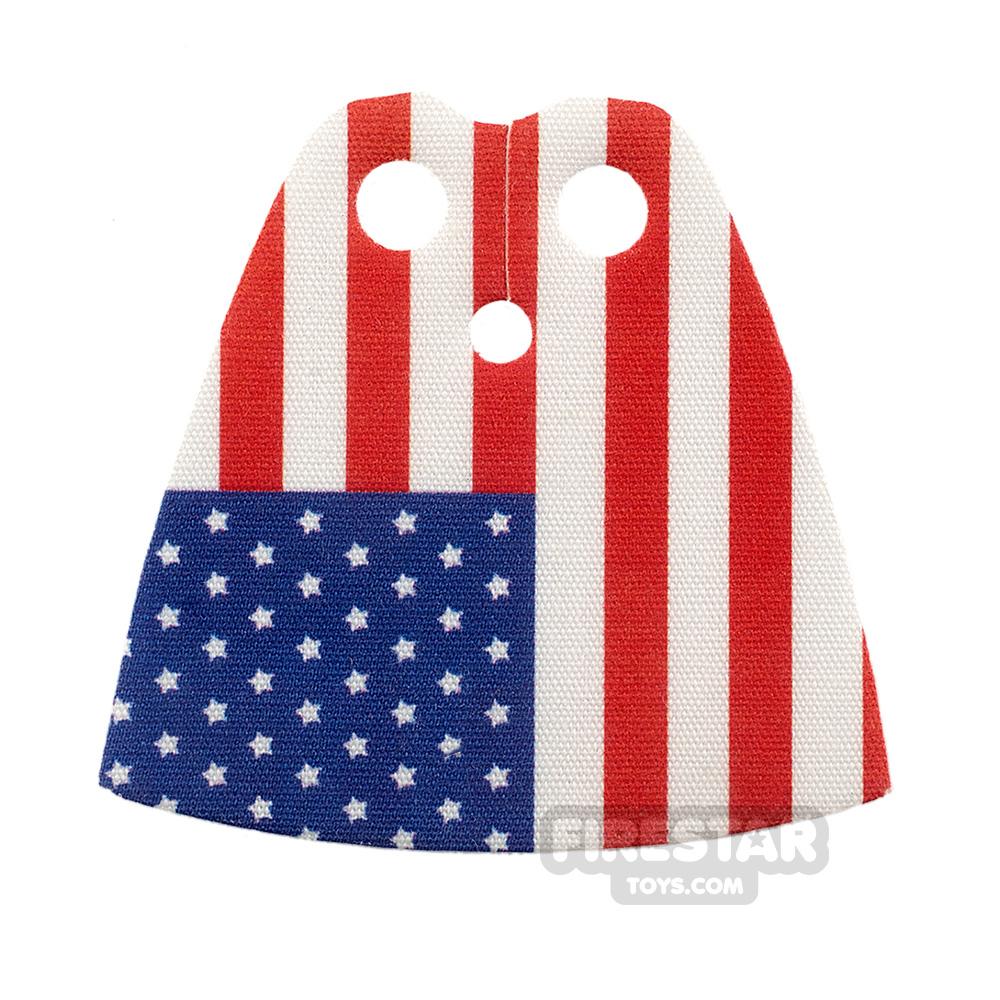 Custom Design Cape Standard American Flag