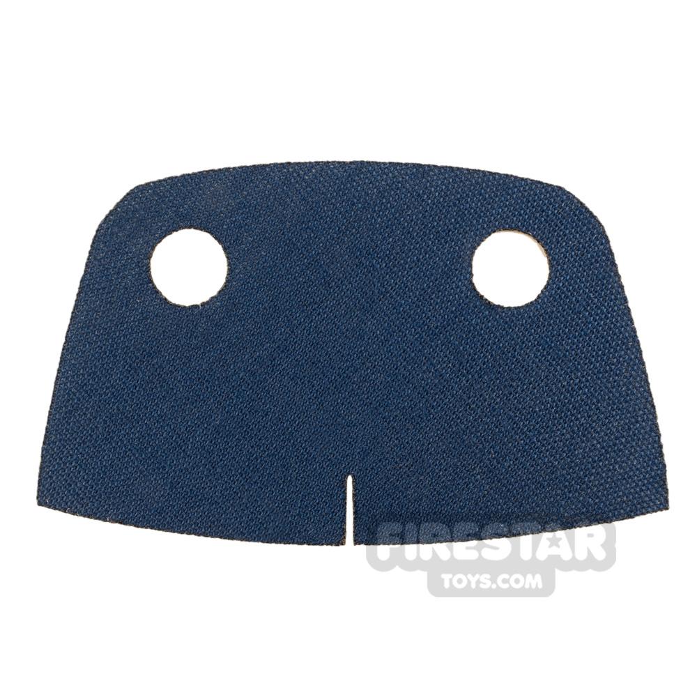 Custom Design Cape Short Trenchcoat Round Collar Blue / Silver