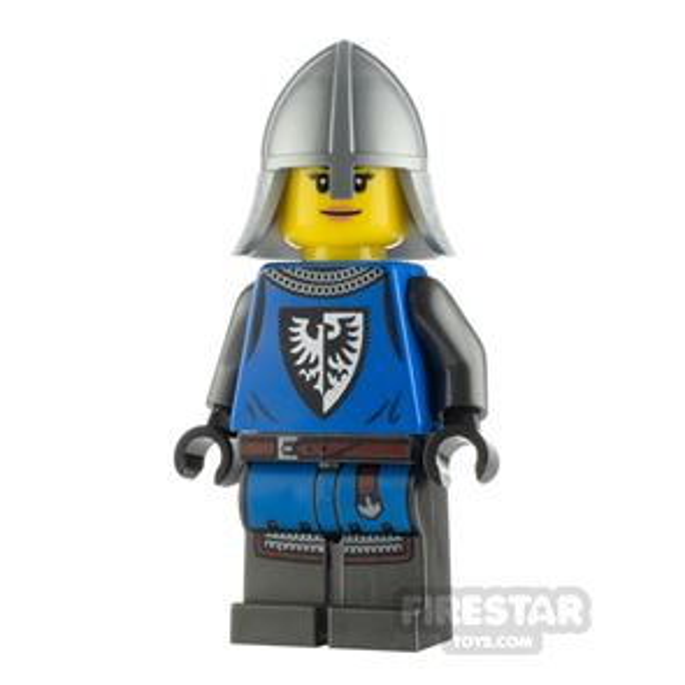 LEGO Castle Minifigure Castle Guard Female Silver Neck Protector