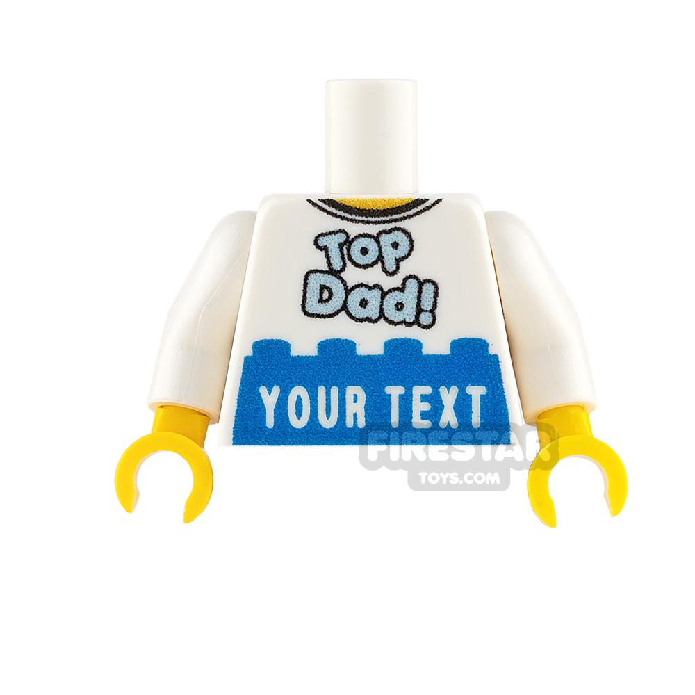 Engraved Minifigure Torso - Top Dad