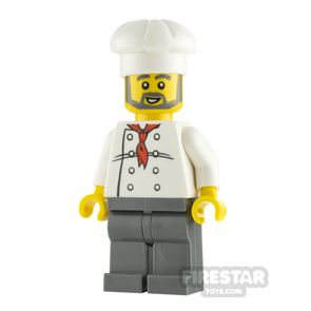 LEGO City Minifigure Chef Gray Beard
