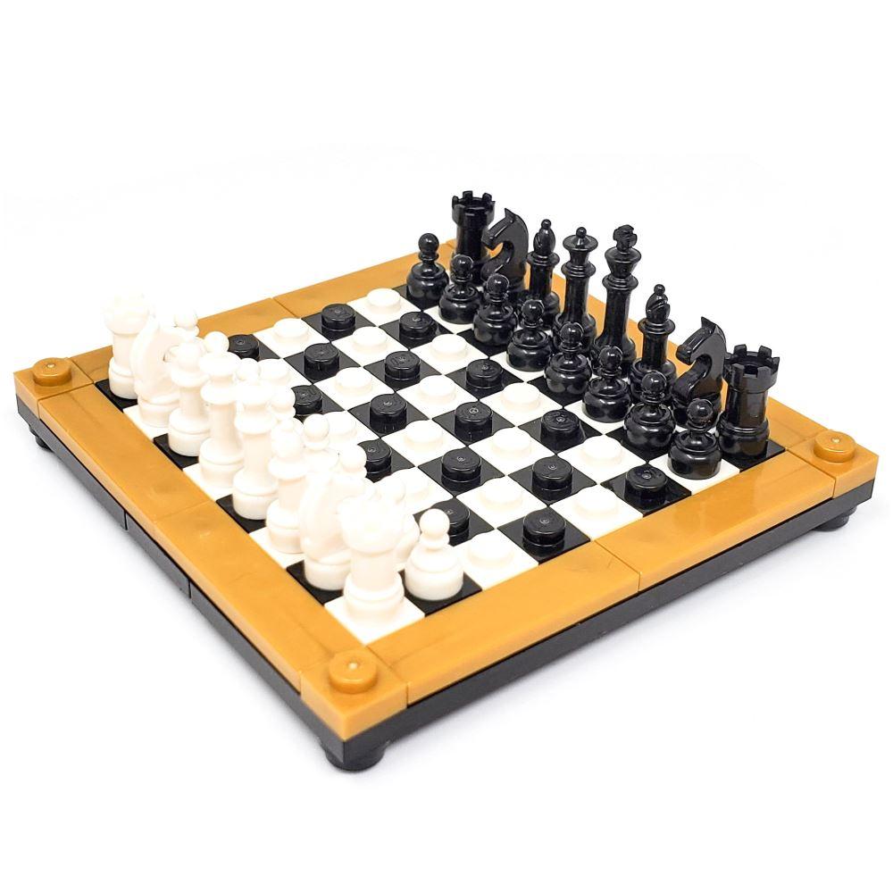 Executive Chess Board Set - Black & White