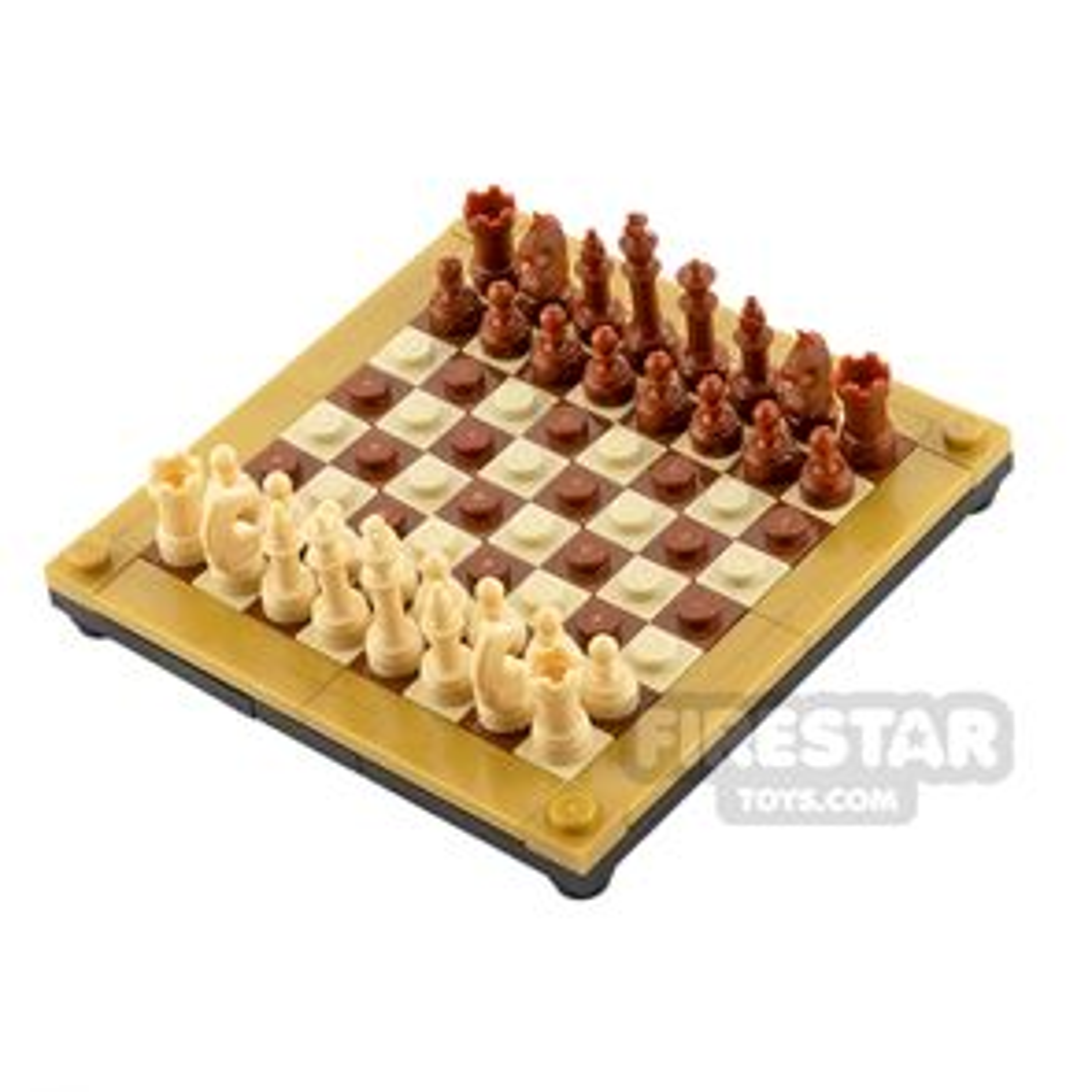 Executive Chess Board Set - Tan & Brown