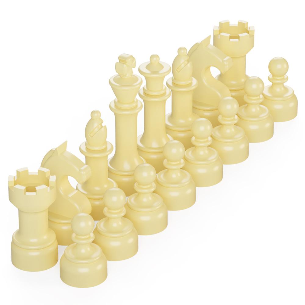 BrickMini Chess Pieces - Tan Set