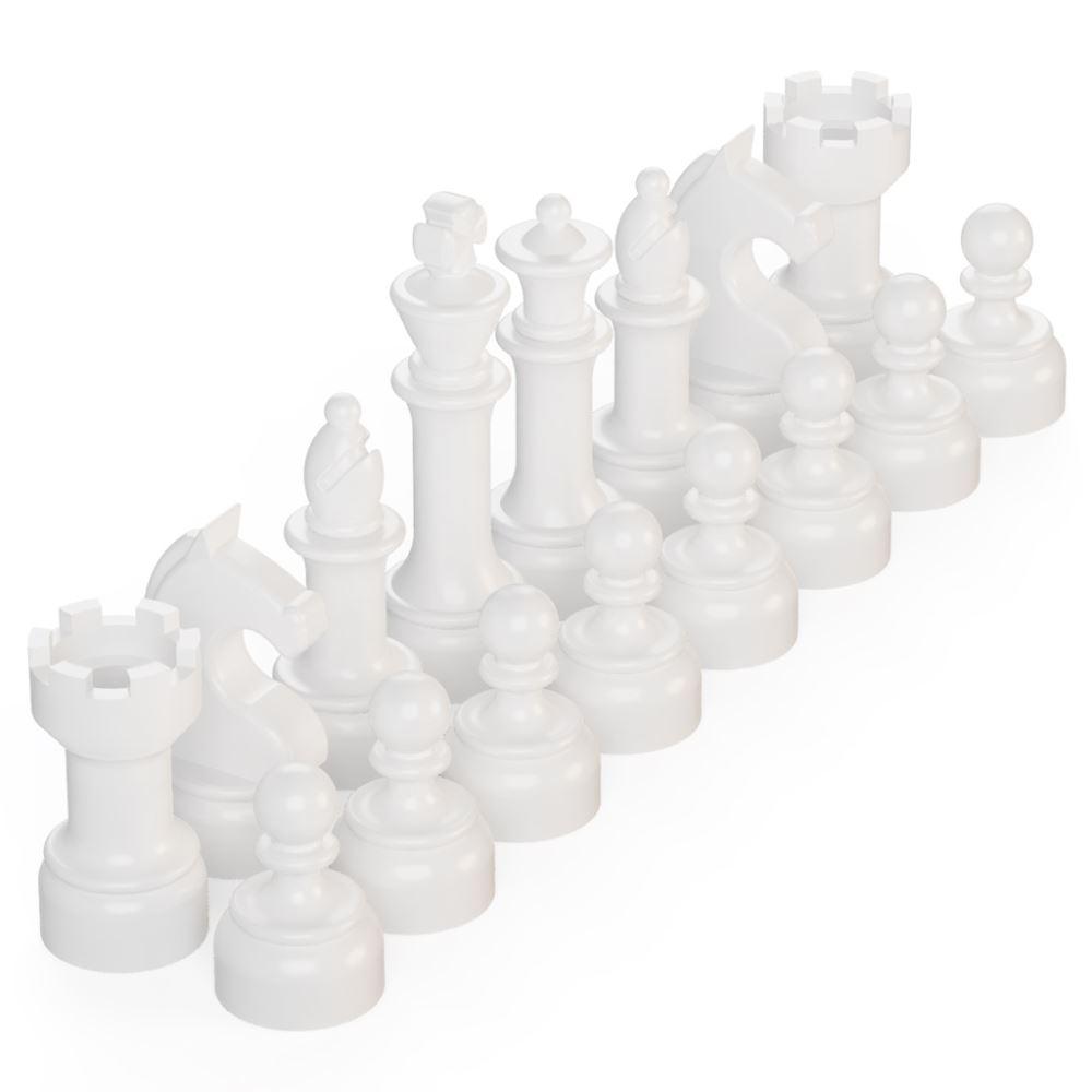 BrickMini Chess Pieces - White Set