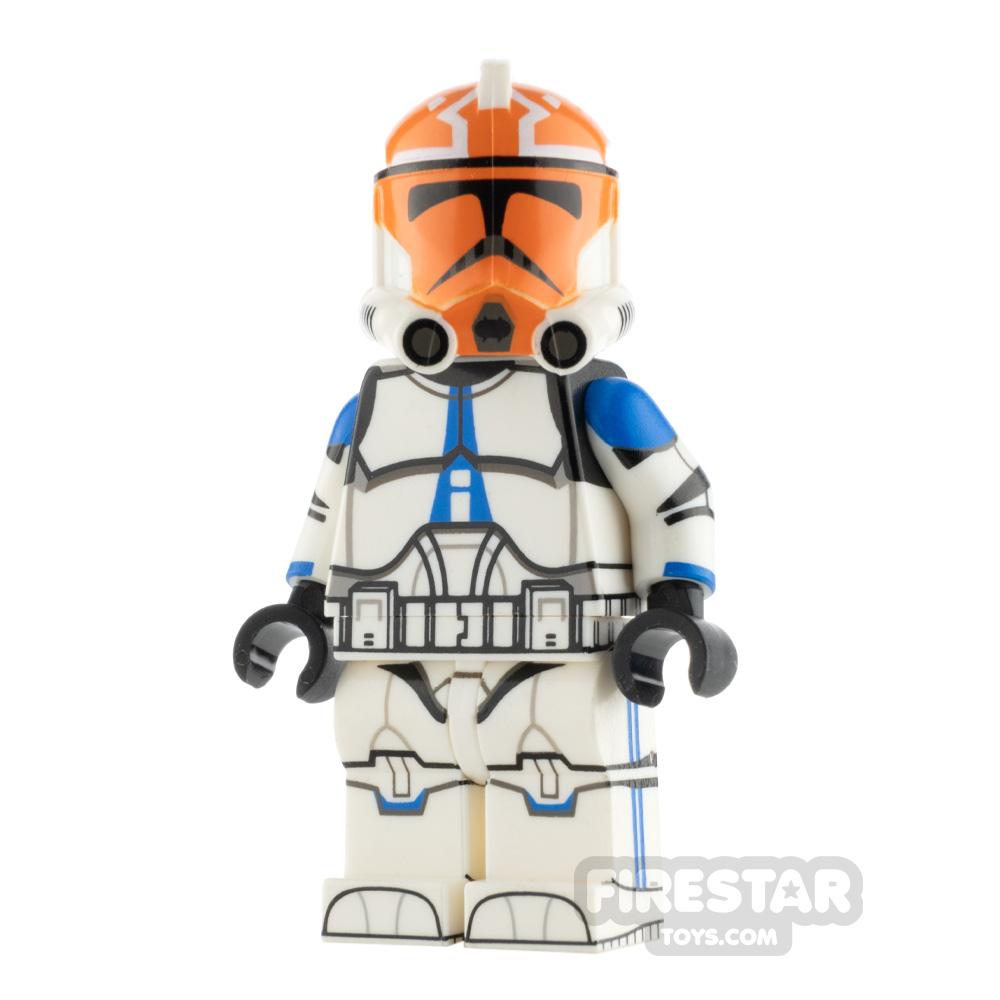 Custom Design Minifigure P2 Trooper 501st Ash Orange