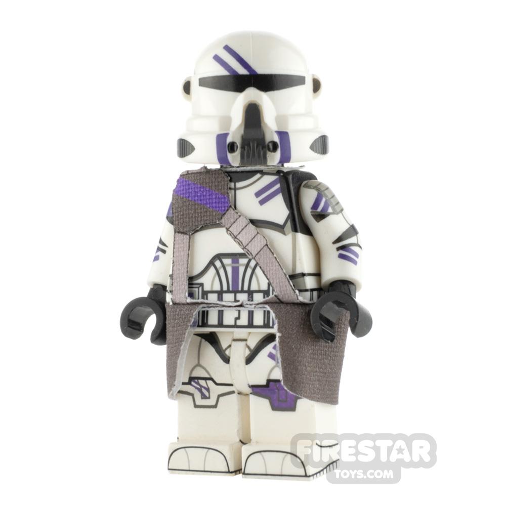 Custom Design Minifigure Airborne Trooper Purple