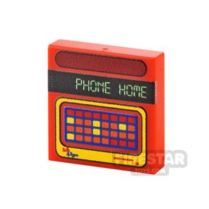 Printed Tile 2x2 - Speak and Spell Toy