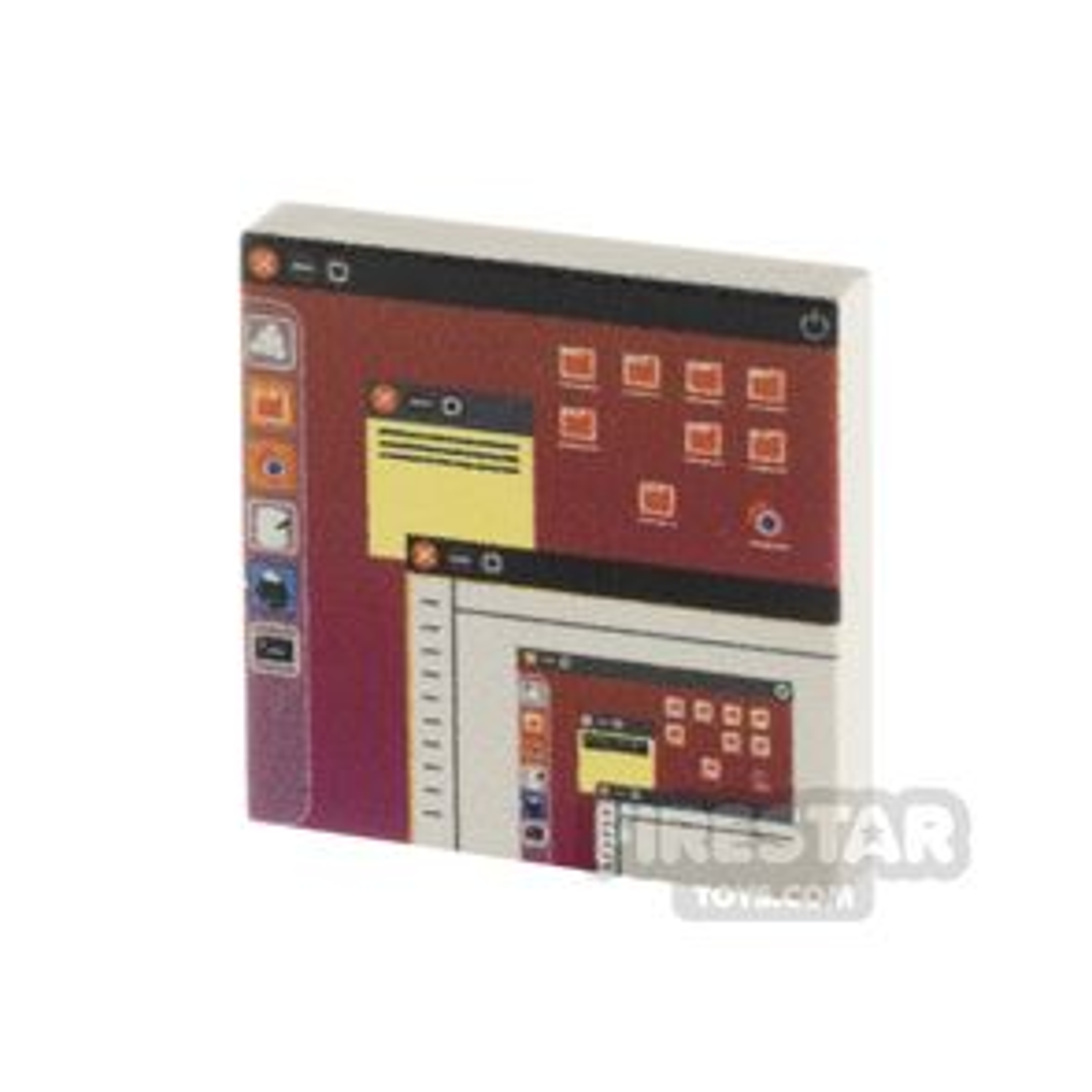 Printed Tile 2x2 - Computer Screen