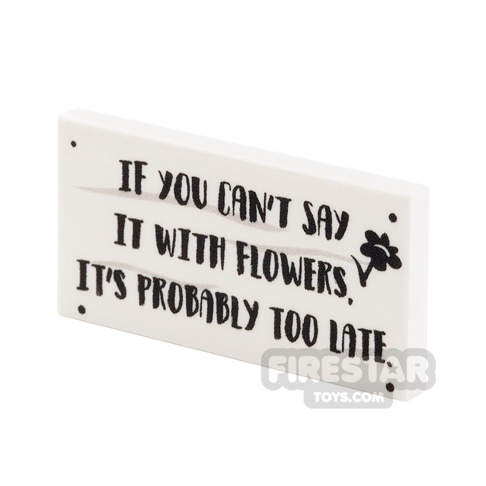 Printed Tile 2x4 - Flower Shop Sign