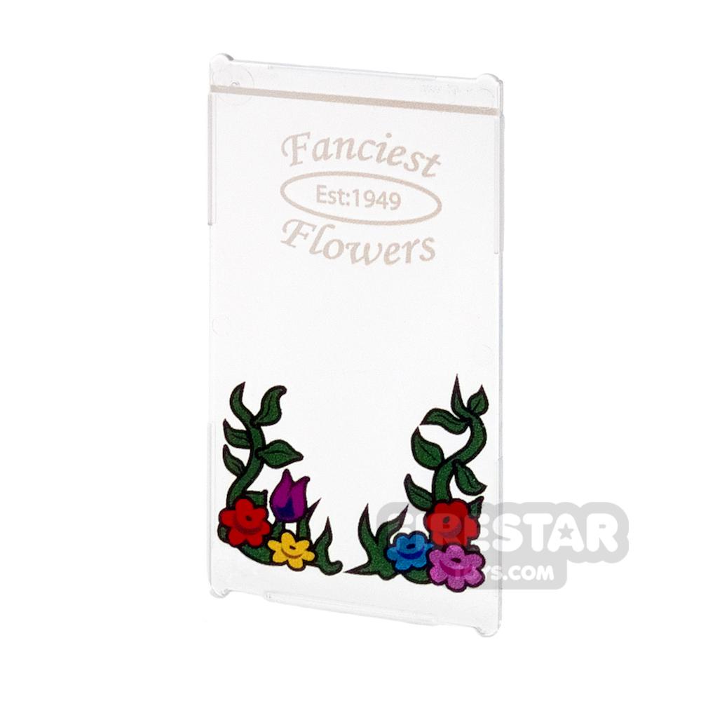 Printed Window Glass 1x4x6 - Flower Shop