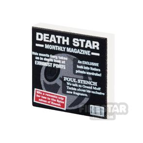 Printed Tile 2x2 - SW Death Star Monthly Magazine
