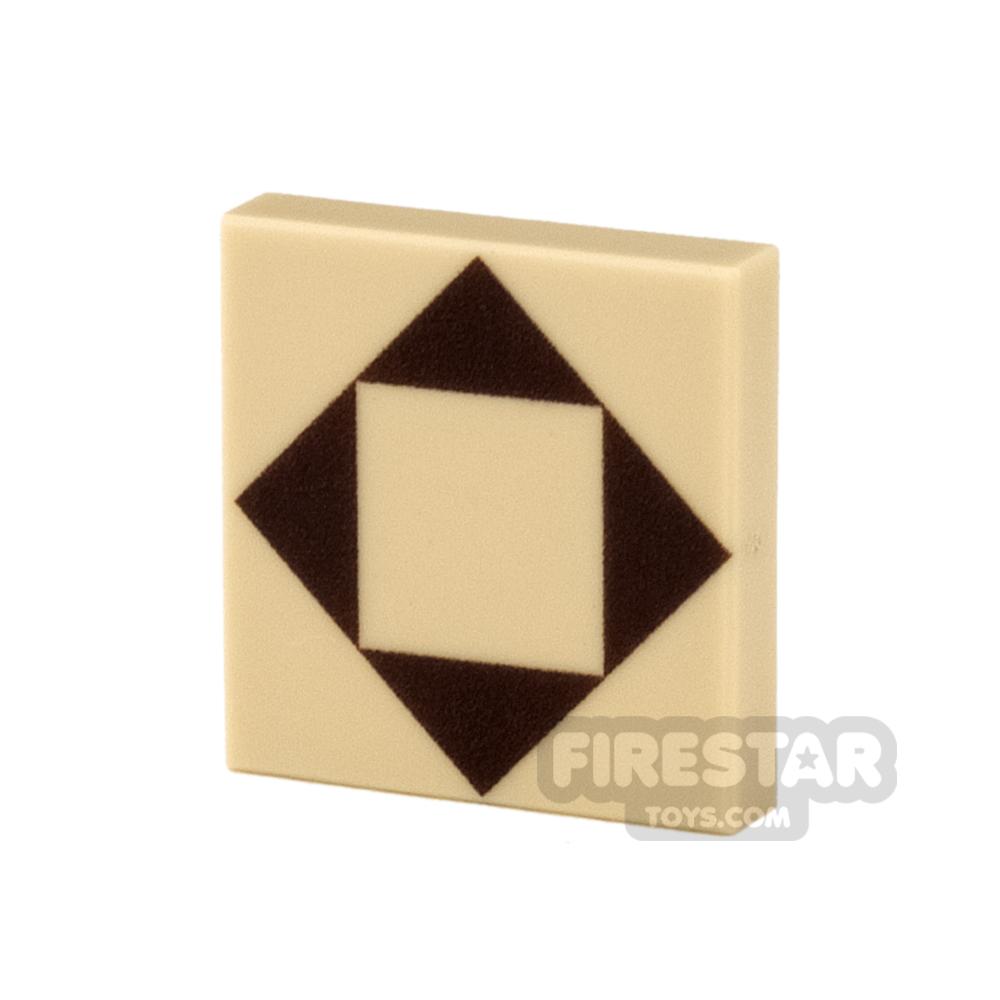 Printed Tile 2x2 - Floor Tile - Triangles Pattern