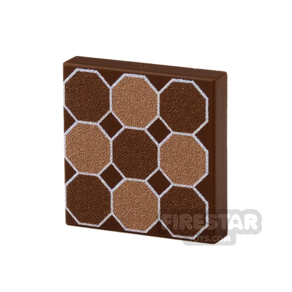 Printed Tile 2x2 - Floor Tile - Hexagon Pattern