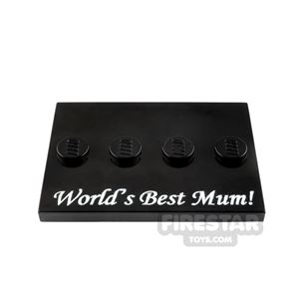 Printed Minifigure Stand World's Best Mum