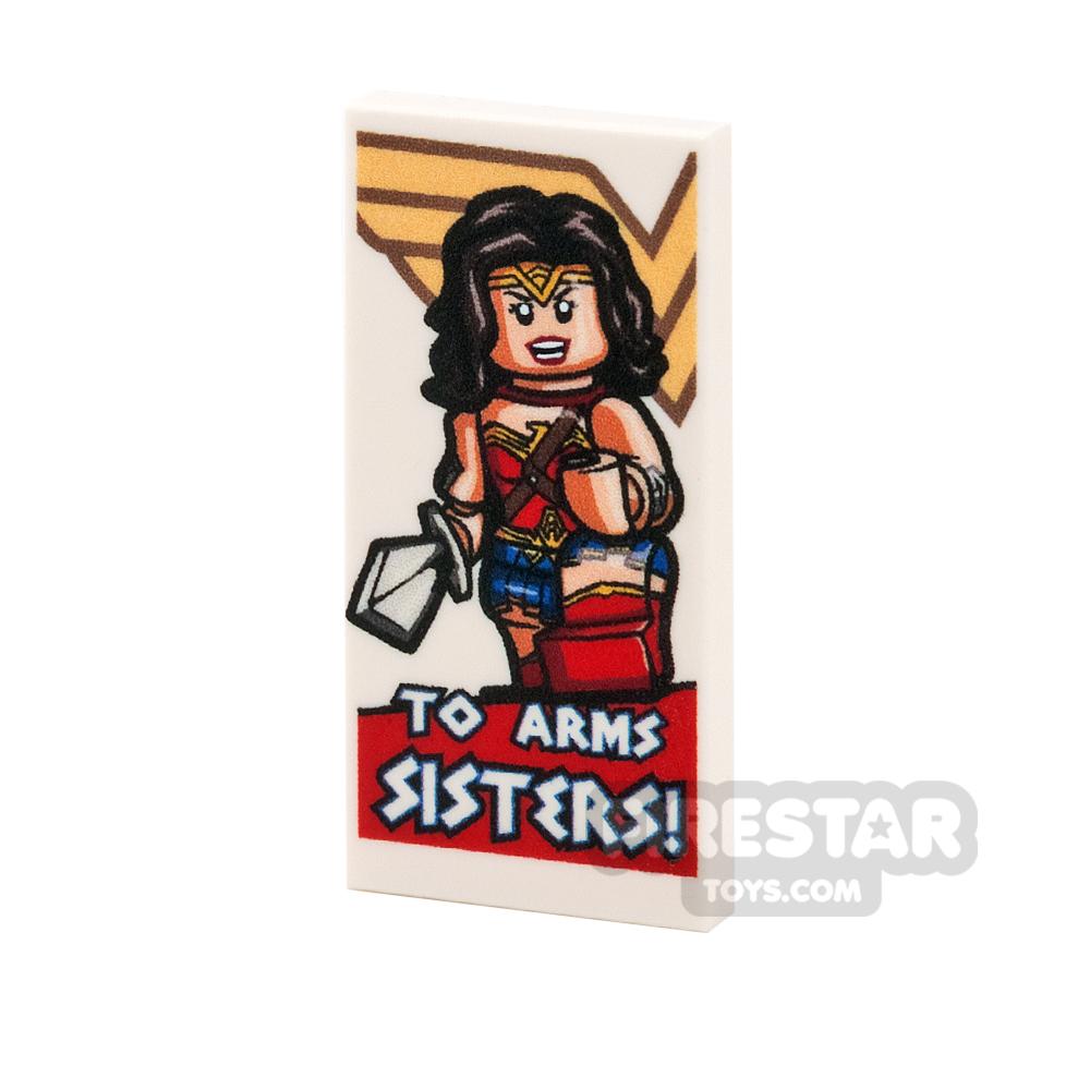 Printed Tile 2x4 - Motivational Wonder Woman Poster