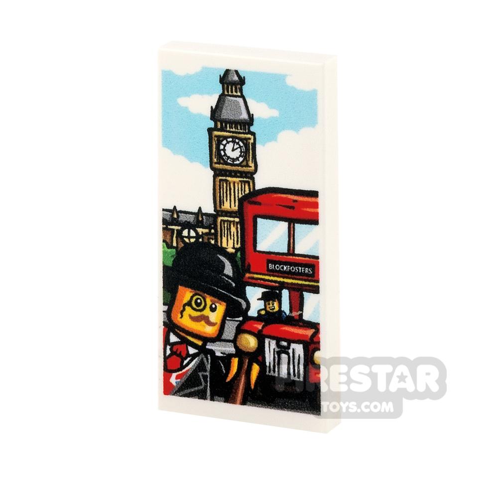 Printed Tile 2x4 - 'Larks in London' Poster