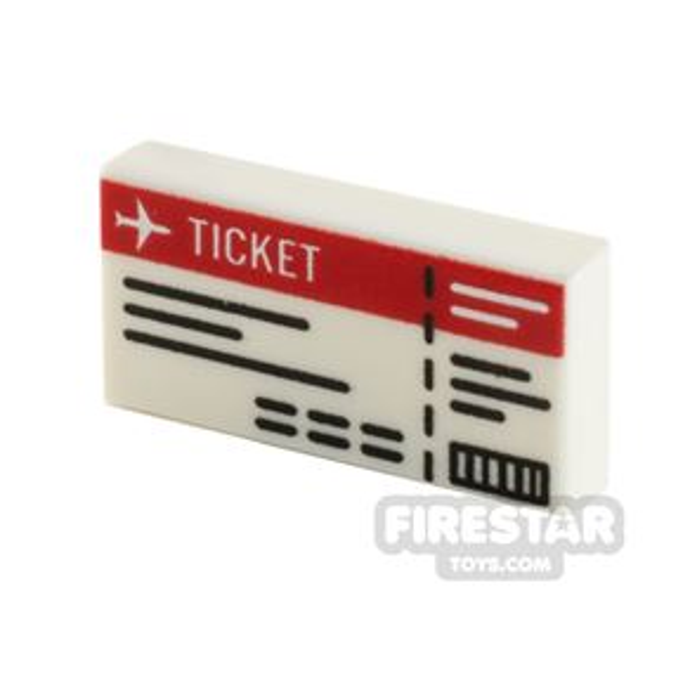 Printed Tile 1x2 Plane Ticket