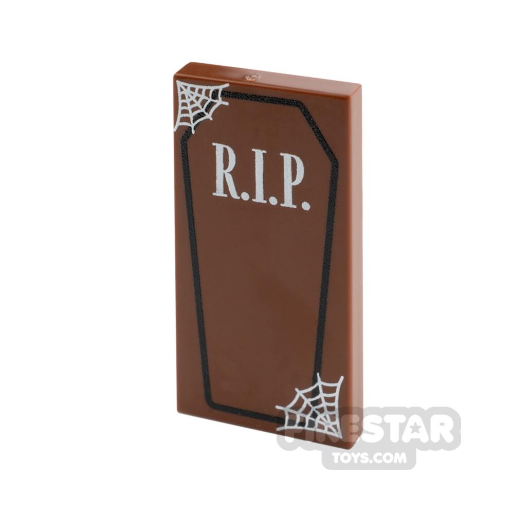 Printed Tile 2x4 RIP Coffin