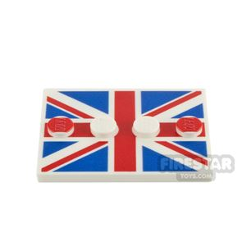 Custom Printed Minifigure Stand UK Flag