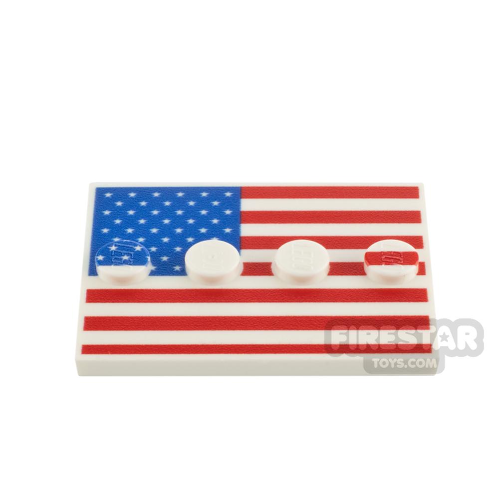 Custom Printed Minifigure Stand American Flag