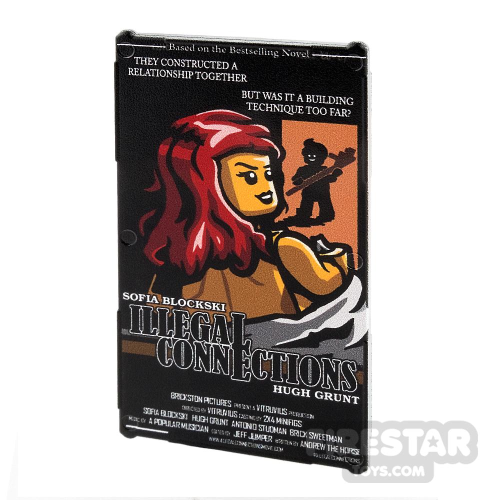 Printed Window Glass 1x4x6 Movie Poster Romantic Thriller