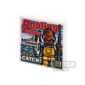 Printed Tile 2x2 - SW Angling with Ackbar Magazine