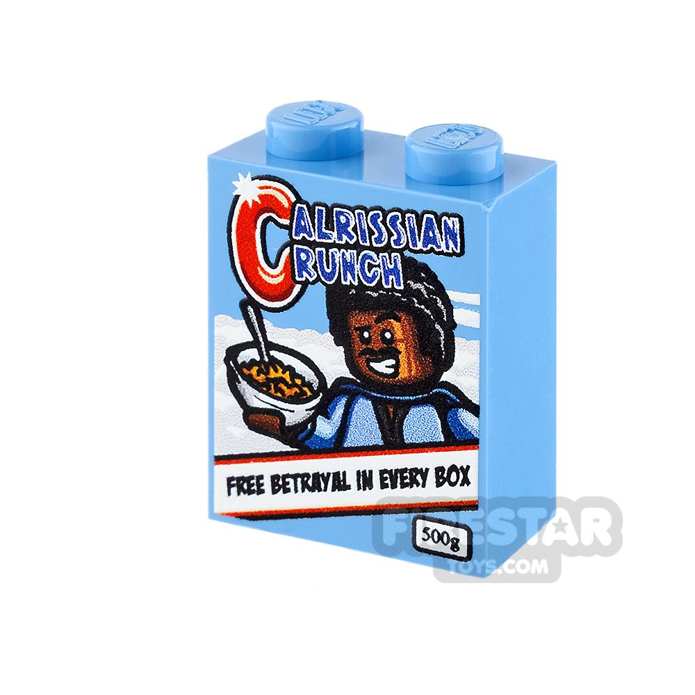 Printed Brick 1x2x2 - SW Calrissian Crunch Cereal
