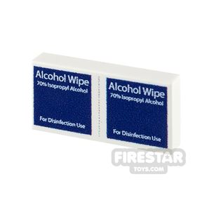 Printed Tile 1x2 - Medical Alcohol Wipes