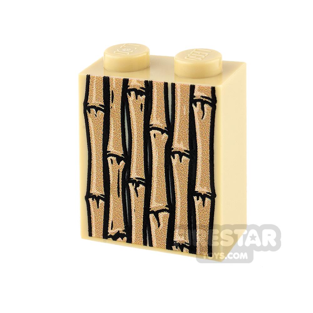 Printed Brick 1x2x2 - Bamboo Panel