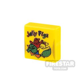 Printed Tile 1x1 - Jelly Babies
