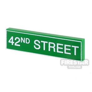 Printed Tile 1x4 - 42nd Street Sign