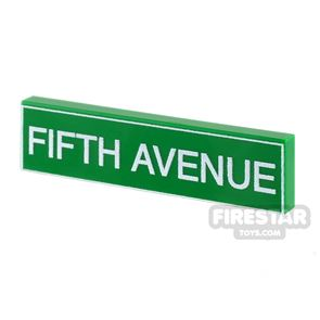 Printed Tile 1x4 - Fifth Avenue Sign