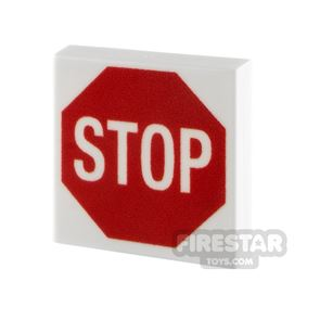 Printed Tile 2x2 - Stop Sign
