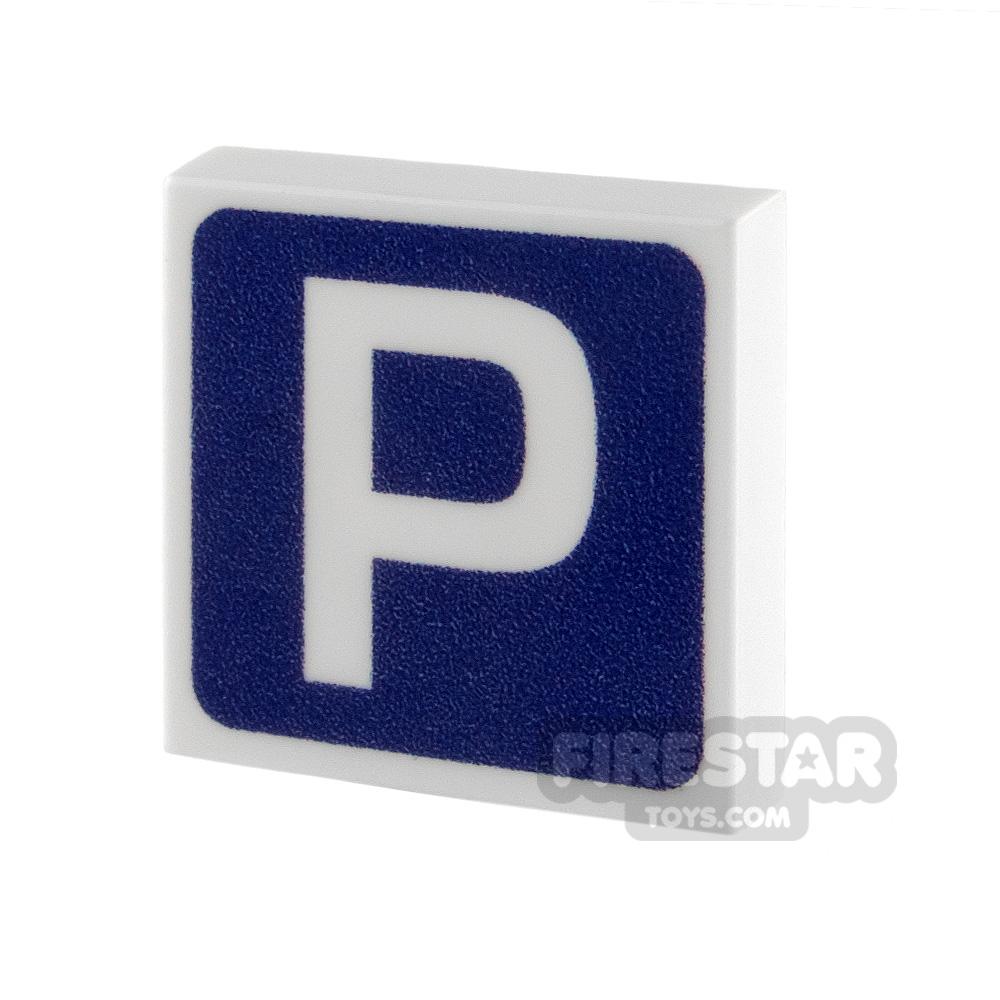 Printed Tile 2x2 - Parking Sign