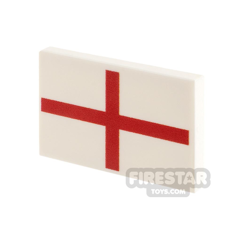 Printed Tile 2x3 Saint George Flag