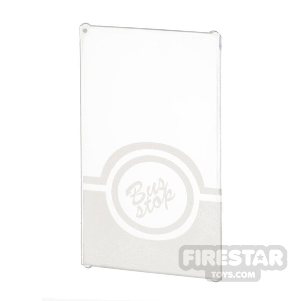Printed Window Glass 1x4x6 - Bus Stop