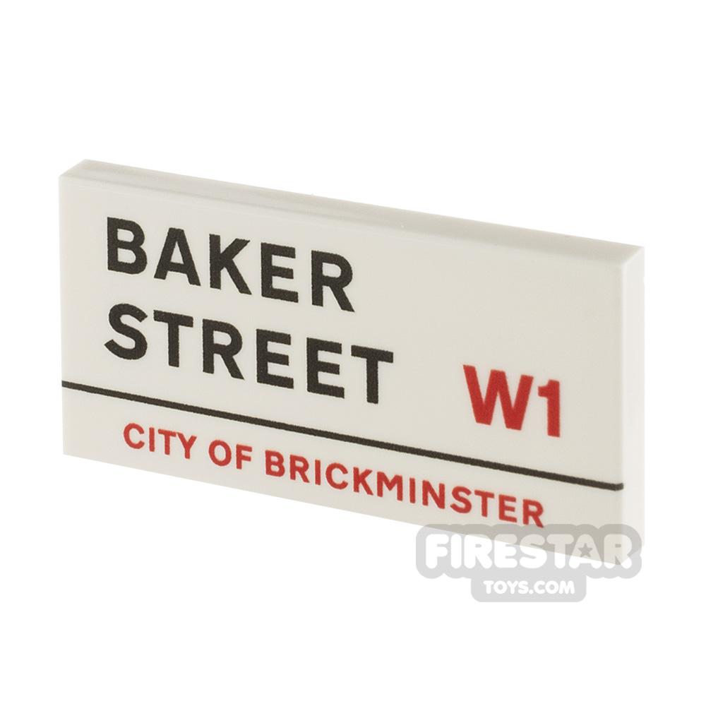 Printed Tile 2x4 - Baker Street Sign