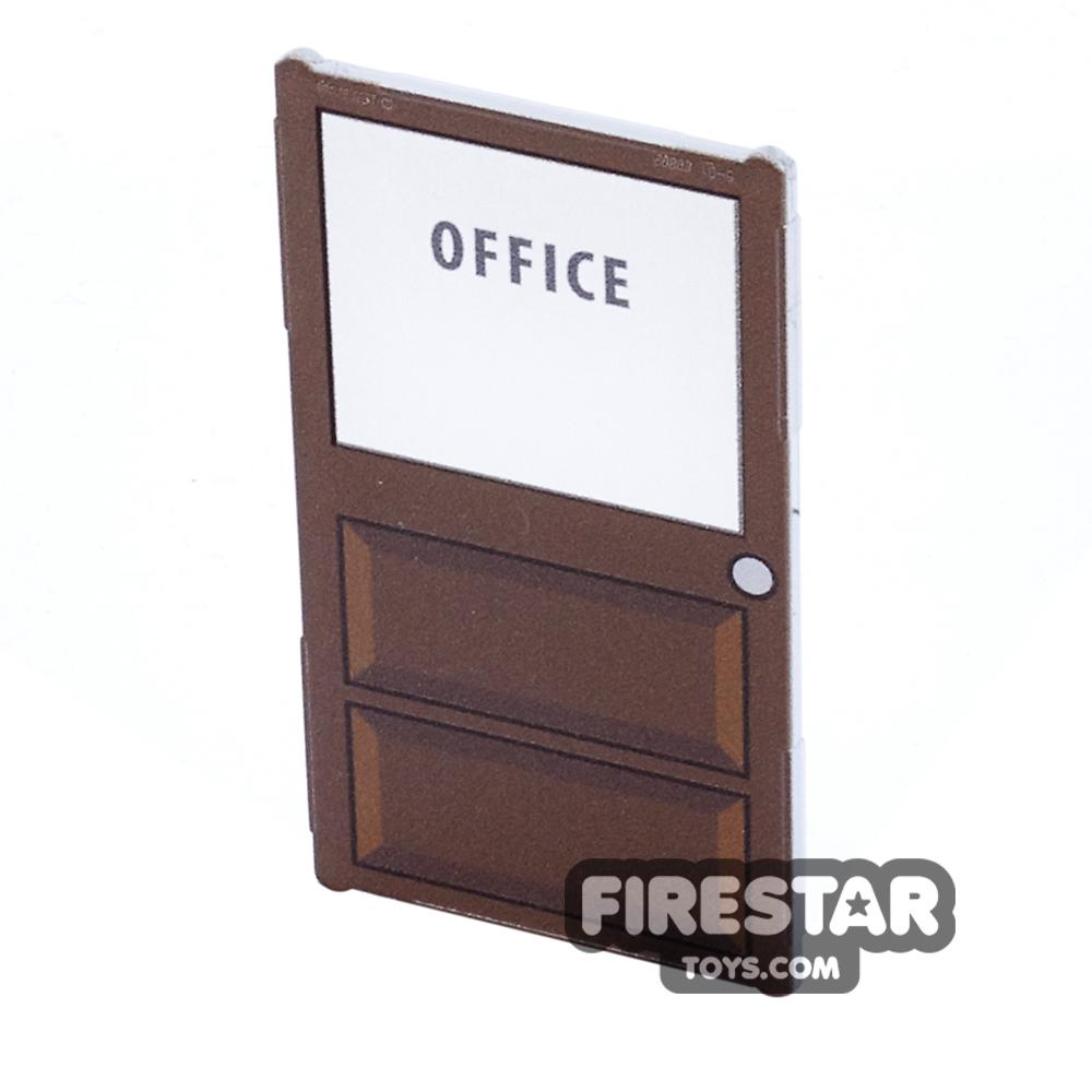 Printed Window Glass 1x4x6 - Office Door